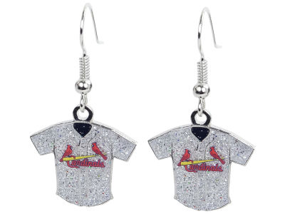 St. Louis Cardinals Glitter Jersey Earrings