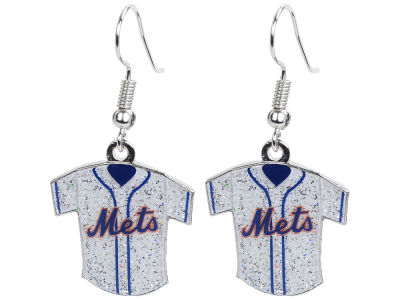 New York Mets Glitter Jersey Earrings