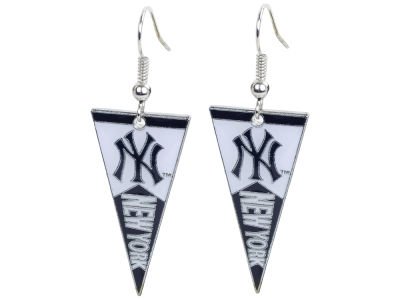 New York Yankees Pennant Dangle Earrings