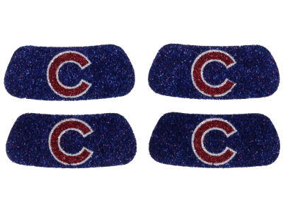 Chicago Cubs 2 Pair Glitter Eyeblack Sticker