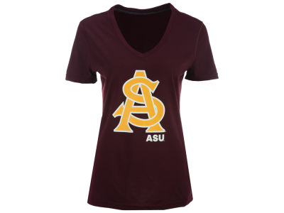 Arizona State Sun Devils adidas NCAA Women's Lined Logo T-Shirt