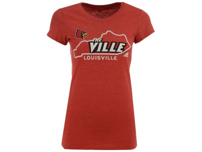 Louisville Cardinals NCAA Women's Clipped State T-Shirt