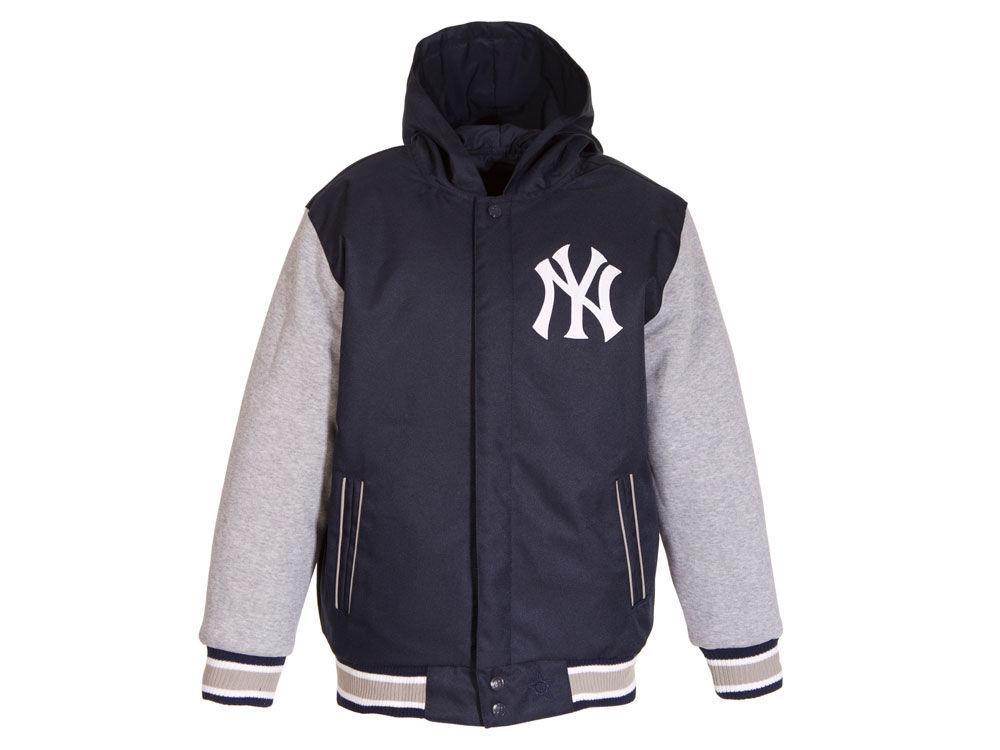 New York Yankees JH Design MLB Youth Twylon Reversible Jacket  16e38d80d1b