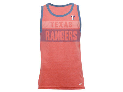 Texas Rangers New Era MLB Men's Tri-Blend Jersey Tank