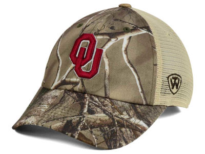 Oklahoma Sooners Top of the World NCAA Woodland Camo Mesh Adjustable Cap