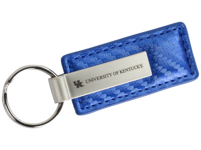 Kentucky Wildcats Carbon Fiber Leather Metal Keytag