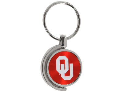 Oklahoma Sooners CD Effect Spinner Keytag