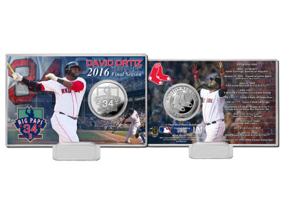 Boston Red Sox David Ortiz Final Season Silver Coin Card