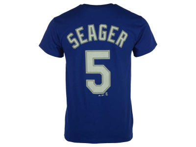 Los Angeles Dodgers Corey Seager Majestic MLB Youth Official Player T-Shirt