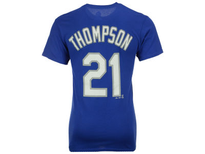 Los Angeles Dodgers Trayce Thompson Majestic MLB Men's Official Player T-Shirt