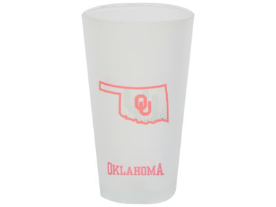 Oklahoma Sooners 16oz State of Mind Pint Glass