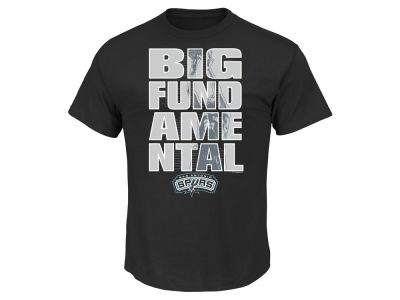 San Antonio Spurs Tim Duncan Majestic NBA Men's Big Fundamental T-Shirt