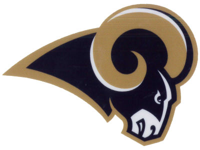 Los Angeles Rams Static Cling Decal