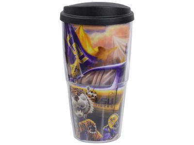 LSU Tigers 24oz Tailgate Double Wall W/ Lid