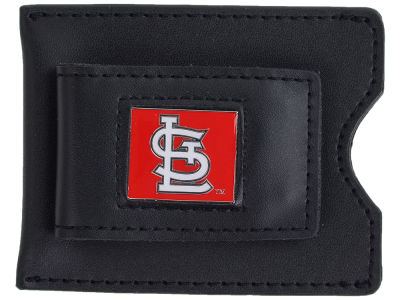 St. Louis Cardinals Leather Money Clip Card Holder