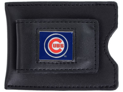 Chicago Cubs Leather Money Clip Card Holder