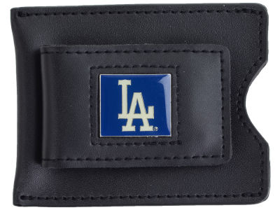 Los Angeles Dodgers Leather Money Clip Card Holder