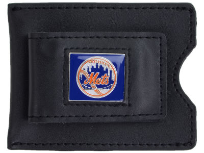 New York Mets Leather Money Clip Card Holder