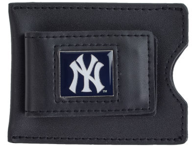 New York Yankees Leather Money Clip Card Holder