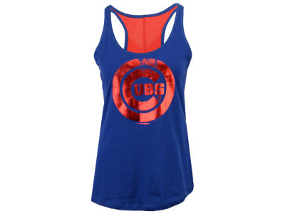 Chicago Cubs 5th & Ocean MLB Women's Foil Tank