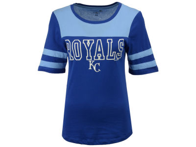 Kansas City Royals 5th & Ocean MLB Women's Glitter Yoke T-Shirt