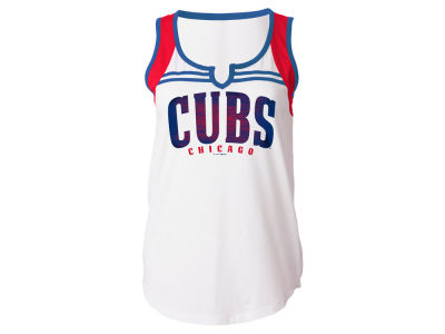 Chicago Cubs 5th & Ocean MLB Women's V Notch Tank
