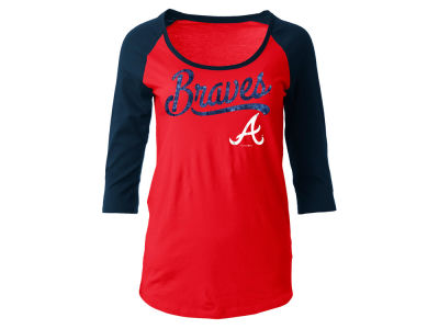 Atlanta Braves MLB Women's Sequin Raglan T-shirt