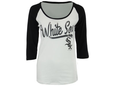 Chicago White Sox 5th & Ocean MLB Women's Sequin Raglan T-shirt