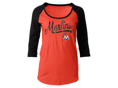 Miami Marlins MLB Women's Sequin Raglan T-shirt