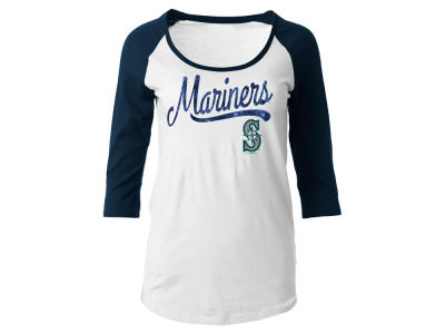 Seattle Mariners 5th & Ocean MLB Women's Sequin Raglan T-shirt