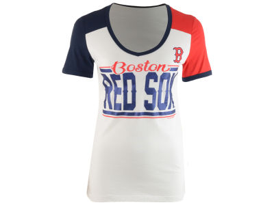 Boston Red Sox MLB Women's Space Dye Cool Base Yoke T-Shirt