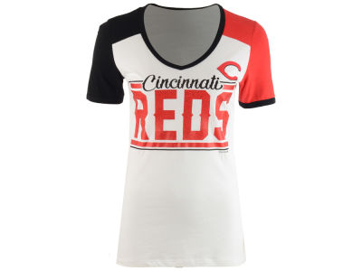 Cincinnati Reds 5th & Ocean MLB Women's Cool Base Short Sleeve T-Shirt
