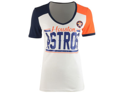 Houston Astros MLB Women's Space Dye Cool Base Yoke T-Shirt
