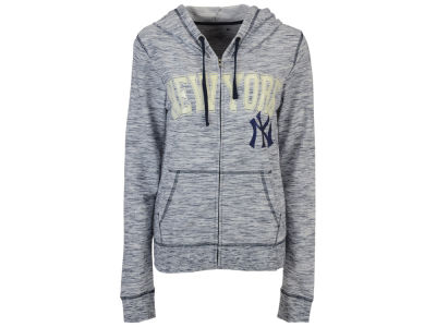 New York Yankees 5th & Ocean MLB Women's Space Dye Hooded Sweatshirt