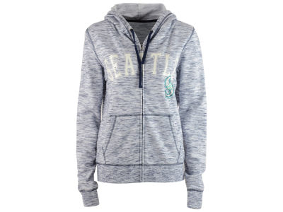 Seattle Mariners 5th & Ocean MLB Women's Space Dye Hooded Sweatshirt