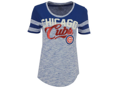 Chicago Cubs MLB Women's Space Dye Cool Base Yoke T-Shirt