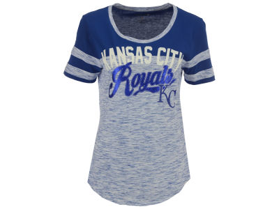 Kansas City Royals 5th & Ocean MLB Women's Space Dye Cool Base Yoke T-Shirt