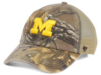 Michigan Wolverines '47 NCAA '47 Sawgrass Camo Snapback Cap