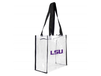 LSU Tigers Clear Square Zip Tote