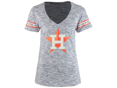 Houston Astros MLB Women's Space Dye Round Sleeve T-Shirt