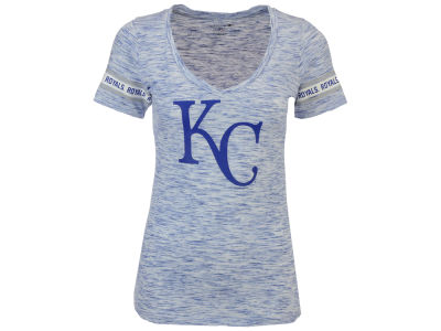 Kansas City Royals 5th & Ocean MLB Women's Space Dye Round Sleeve T-Shirt