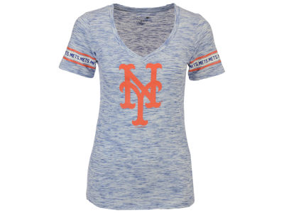New York Mets MLB Women's Space Dye Round Sleeve T-Shirt