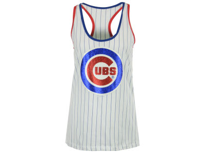 Chicago Cubs 5th & Ocean MLB Women's Pinstripe Tank