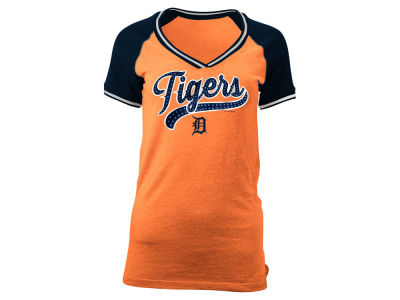 Detroit Tigers 5th & Ocean MLB Women's Rhinestone Night T-Shirt