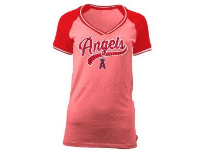 Los Angeles Angels 5th & Ocean MLB Women's Rhinestone Night T-Shirt