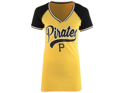 Pittsburgh Pirates 5th & Ocean MLB Women's Rhinestone Night T-Shirt