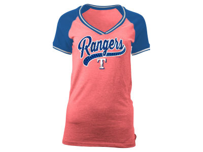 Texas Rangers 5th & Ocean MLB Women's Rhinestone Night T-Shirt