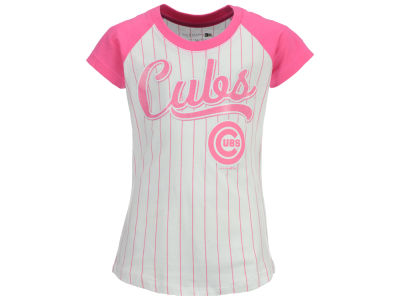 Chicago Cubs MLB Girls Pinstripe T-Shirt