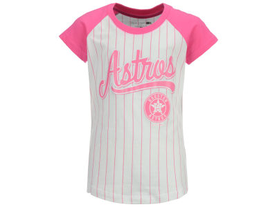 Houston Astros MLB Girls Pinstripe T-Shirt