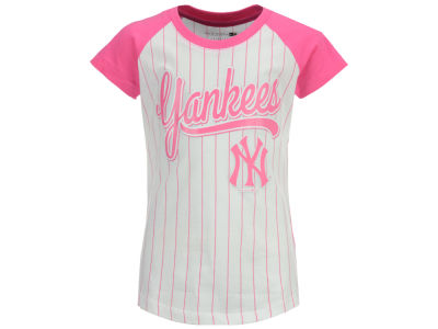 New York Yankees 5th & Ocean MLB Girls Pinstripe T-Shirt